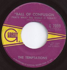 Ball Of Confusion / Temptations on Billboard 1970 1970s Music, Old Music, Tamla Motown, Old Records, R&b Artists, Jazz Funk, Soul Funk, Music Radio, Cover Songs