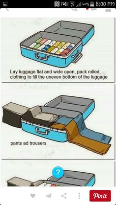 how to pack a suitcase #Various #Trusper #Tip
