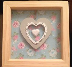 This Mother's Day present is so beautiful. Why not make something similar for your mum? Get one of our large square 3D box frames, wooden heart ornaments and decoupage paper. More Mother's Day DIY ideas and inspiration at www.craftmill.co.uk
