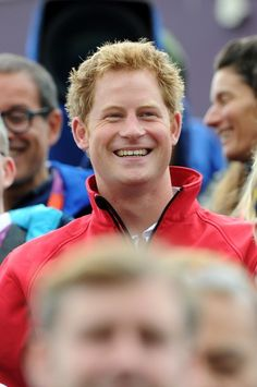 LONDON, ENGLAND - JULY 31:  Prince Harry looks on at the Show Jumping Eventing Equestrian on Day 4 of the London 2012 Olympic Games at Greenwich Park on July 31, 2012 in London, England.