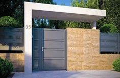 11 designs of porches so that the entrance of your house looks great. Modern and elegant! porches modern looks house great entrance designs House Gate Design, Door Gate Design, Fence Design, Front Gates, Entrance Gates, Tor Design, Compound Wall, Modern Minimalist House, Boundary Walls