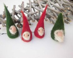 Items similar to Christmas ornaments, little christmas gnomes in red and green, set of ready to ship, cute christmas decoration, christmas tree ornament on Etsy Christmas Gnome, Green Christmas, Christmas In July, Christmas Items, Little Christmas, Xmas Tree, Christmas Tree Ornaments, Cute Christmas Decorations, Natural Christmas