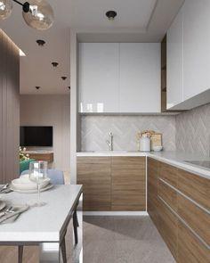 Model dan Tips Memilih Kitchen Set Minimalis Modern Terbaru 2020 Small Modern Kitchens, Modern Kitchen Design, Interior Design Kitchen, Home Kitchens, Apartment Kitchen, Living Room Kitchen, Kitchen Furniture, Kitchen Decor, Furniture Stores