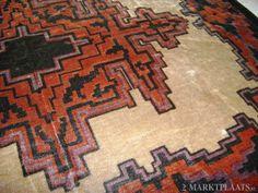 Art Deco tapijt detail / rug.