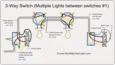 3 way switch diagram multiple lights between switches rh pinterest com 3 way light switch wiring diagram multiple lights uk 3 way switch wiring diagram multiple lights pdf