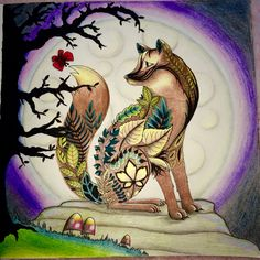 Completed Fox Enchantedforest Colouring Joannabasford