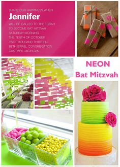 Neon Bat Mitzvah Theme!