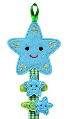 Felt Hair Clip Holder and No Slip Clips Set- STARFISH. $12.00, via Etsy.