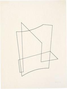 いつ見ても、きれいな線だなって思うquincampoix:  Josef Albers, Linear construction, 1936