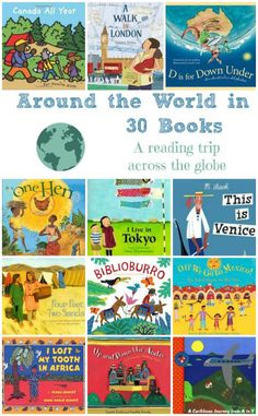 Around the World in 30 Books -- A Trip Across the Globe - - Use this great list of picture books about countries & cities around the world to raise a global citizen! Around The World Theme, Kids Around The World, We Are The World, Around The Worlds, Schools Around The World, Countries Around The World, School Themes, Classroom Themes, Classroom Libraries