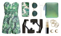 Tropical set by baludna on Polyvore featuring polyvore, fashion, style, H&M, Comme des Garçons, LowLuv, Sonix, Ray-Ban and Chanel
