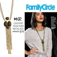 """Family Circle says the Leather Together Necklace has """"some serious fringe benefits."""" #Silpada #SilpadaStyle"""