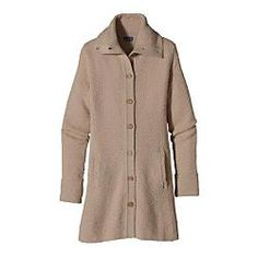 This sweater coat would go with anything in my wardwrobe, Way Cute!! Patagonia Womens Merino Sweater Coat From Masseys Outfitters, $132.61 #sweater
