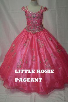 2016 Hot Sale Little Rosie Girls Pageant Dresses Spaghetti Beads & Beading Rhinestone Organza Kids Formal Wear Sweep Train Used Girls Pageant Dresses 2t Pageant Dress From Liuliu8899, $155.76| Dhgate.Com