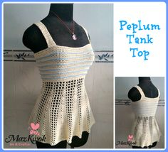 Crochet Peplum tank top - Maz Kwok's Designs
