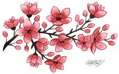 small cherry blossom tattoo - Google Search