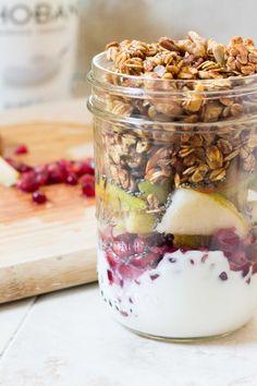 Chobani Greek Yogurt Parfait gets your morning going.