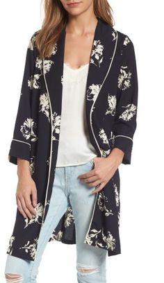 Women's Treasure & Bond Print Kimono