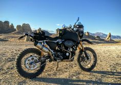SC3 Adventure Dual Sportster with IMS 5 gal yank at the Trona Pinnacles.