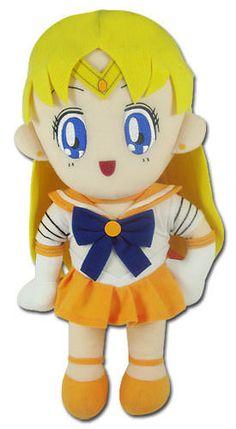 "Sailor Moon Sailor Venus 17"" Plush Toy #GreatEastern"