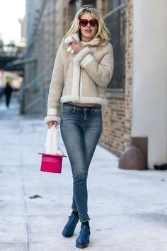 Как носить дубленки этой зимой | Мода | STREETSTYLE | VOGUE