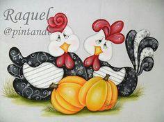 Galinhas - Raquel@pintando