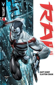 RAI #4 (VALIANT FIRST) Written by MATT KINDT Art & Cover by CLAYTON CRAIN #ValiantCraft Cover by DONOVAN SANTIAGO  The most daring comic book launch of the year unleashes a cascade of shocking revelations as RAI rockets toward its second arc!