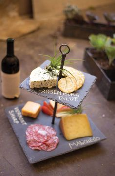 Our latest two tiered serving tray is the best yet! For more tiered serving trays visit Antique Farmhouse. Cheese Trays, Wine Cheese, Churros, Dot And Bo, Appetizer Recipes, Simple Appetizers, Wine Recipes, Food And Drink, Snacks