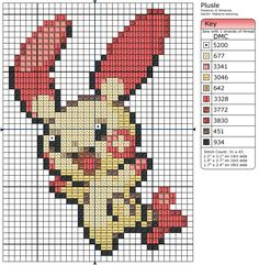 311 - Plusle by Makibird-Stitching.deviantart.com on @deviantART