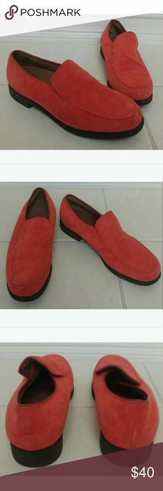 Hush Puppies Coral Suede Flat Loafer Shoes Size 9 Classic Hush Puppies Shoes Hush Puppies Shoes Flats & Loafers