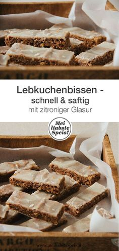 Schnelle und saftige Lebkuchenbissen oder warten aufs Christkind Our quick gingerbread bites are a wonderfully juicy and aromatic alternative to traditional recipes. Prepared in 45 minutes (including Quick Bread Recipes, Snack Recipes, Spice Bread, Low Calorie Snacks, Biscuit Cookies, Christmas Baking, Christmas Christmas, No Bake Desserts, Us Foods