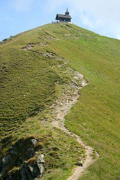 Austria, Schwaz, Kellerjoch mit Gipfelkapelle