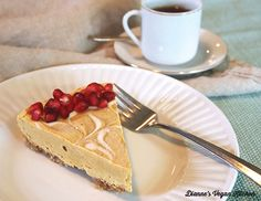 No-Bake Vegan Pumpkin Swirl Cheesecake >> Dianne's Vegan Kitchen