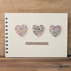 Personalised Small Hearts Wedding Book - albums & guest books
