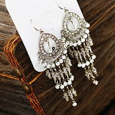 Women's Vintage Diamond Tassels Earrings – USD $ 9.99