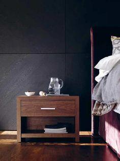 Table de chevet / rectangulaire / contemporaine / en bois BT 50.1 SCHRAMM