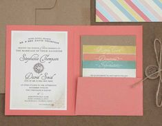 Modelli-di-partecipazioni-di-nozze: formato quadrato pieghevole con tasca