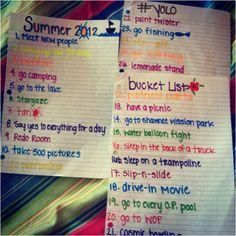 summer bucket list... yessss!