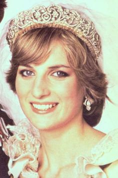 Spencer family tiara worn by Lady Diana Spencer when she wed the Prince of Wales.