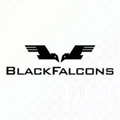 Logo Design of two falcons, crows, hawks, sparrows or any bird that are similar to the birds represented in the logo For Sale On StockLogos | Black Falcons logo