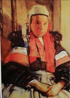 Aquarelle Lucien Simon 1901