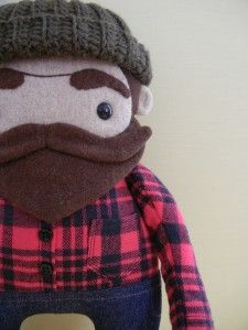 Lumberjack (love the beard...now, if only I could knit that hat) // via Chickpea studios