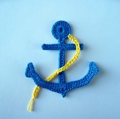 Crochet Pattern Anchor Applique | YouCanMakeThis.com