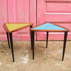 Mid-Century Triangle Table Pair now featured on Fab.