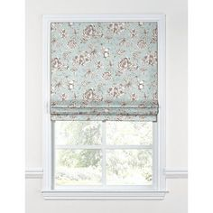 "Loom Decor Floral Toile Flat Roman Shades Width: 34"", Length: 64"""