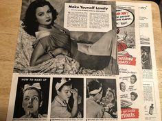 """Vintage 1940s 3-Page Article  - JOAN BENNETT - 10-1/4"""" x 13-1/2"""""""