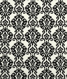 Waverly Luminary Sun N Shade Licorice Fabric Drapery Fabric, Fabric Decor, Fabric Design, Curtains, Love Wallpaper, Pattern Wallpaper, Black White Rooms, Waverly Fabric, Robert Allen Fabric