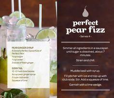 perfect pear fizz