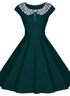 Miusol Womens Classy Vintage Audrey Hepburn Style 1940's Rockabilly Evening Dress   Amazon.com