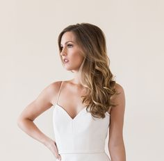 Gorgeous sample wedding dresses available off the rack and at a beautiful discount Designer dresses from Maggie Louise Bridal. Amsale Bridal, Beautiful Dream, Dream Wedding Dresses, Bridal Boutique, Discount Designer, Designer Dresses, Basic Tank Top, Camisole Top, Gowns